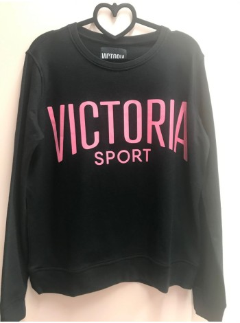 Свитшот - Victoria's Secret SPORT - BLACK with red print logo - S(р)