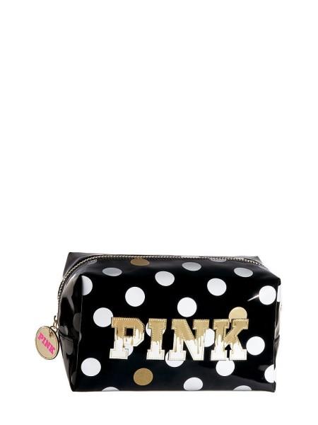 СРЕДНЯЯ КОСМЕТИЧКА PINK - HONEY BEAUTY BAG WHITE& BLACK