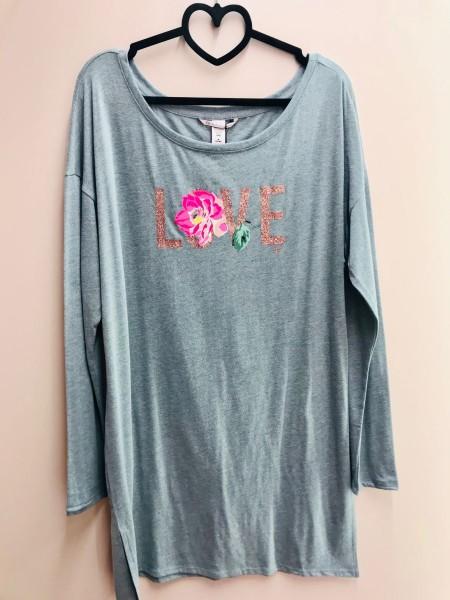 Ночная рубашка Victoria's Secret серая print LOVE