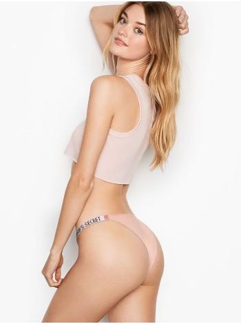 Трусики Victoria's Secret Very Sexy Crystal Logo Shine Strap Brazilian Panty ROYAL PINK