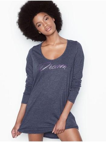 Ночная рубашка Victoria's Secret SCOOPNECK NAVY BLUE Long Sleeve