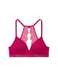Бюстгальтер Victoria's Secret Logo Bra Lightly Lined Wireless Razzleberry