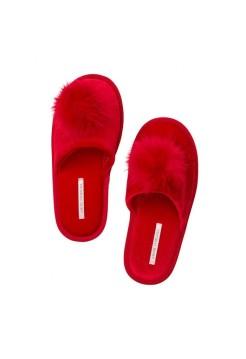 Домашние тапочки Victoria's Secret Slipperspom-pon красные